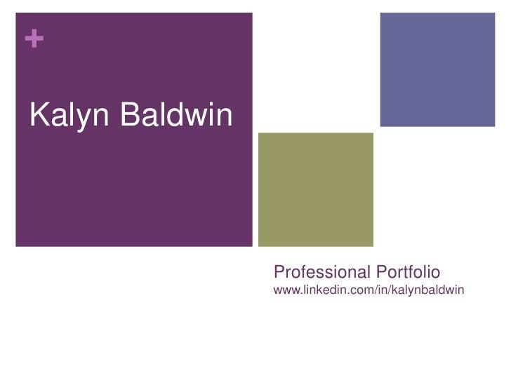 Kalyn Baldwin Portfolio