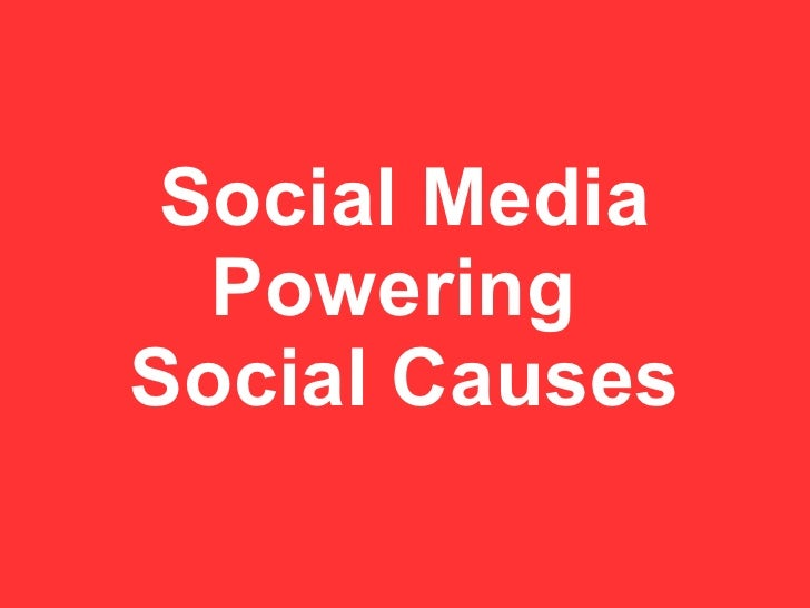 Social Media  PoweringSocial Causes