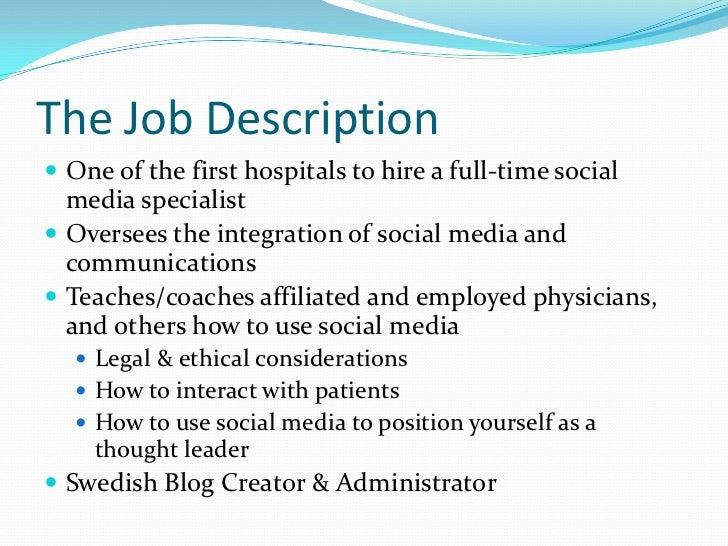 Social media specialist job description, producer in advertising job ...