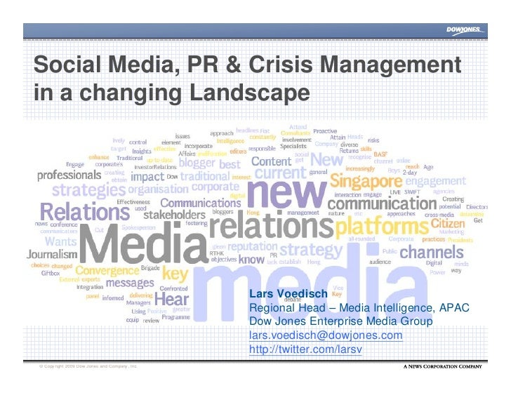 Social Media, PR and Crisis Management in a changing Landscape - Lars Voedisch