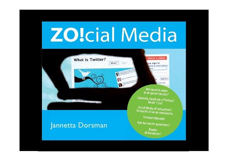 Social media presentatie ZO!