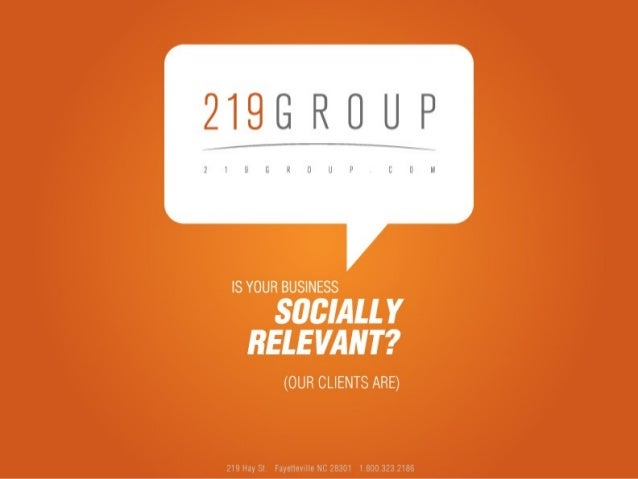Leveraging Social MediaLeveraging Social Media Presented by:Presented by: Kirk deViereKirk deViere 219 Group219 Group