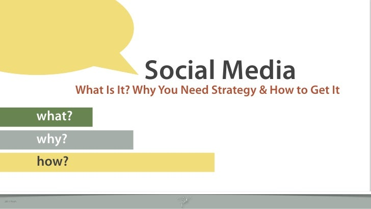 Social Media                     What Is It? Why You Need Strategy & How to Get It             what?             why?     ...