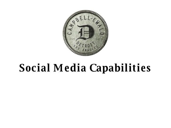 Social Media Capabilities