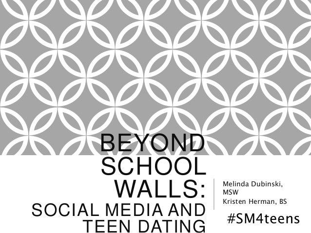 BEYOND SCHOOL WALLS: SOCIAL MEDIA AND TEEN DATING Melinda Dubinski, MSW Kristen Herman, BS #SM4teens