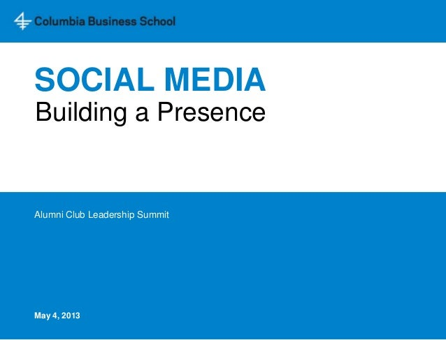 Social media presentation for clubs