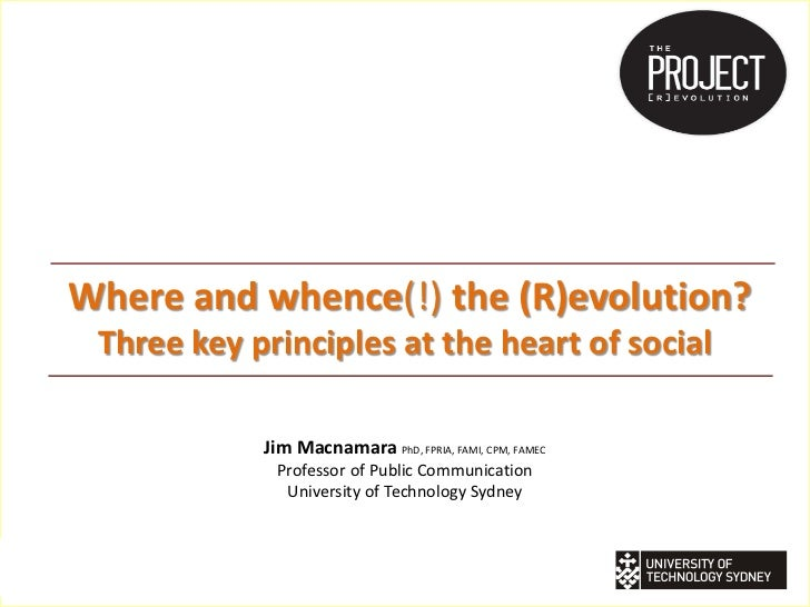 Where and whence(!) the (R)evolution?         Three key principles at the heart of social                                 ...