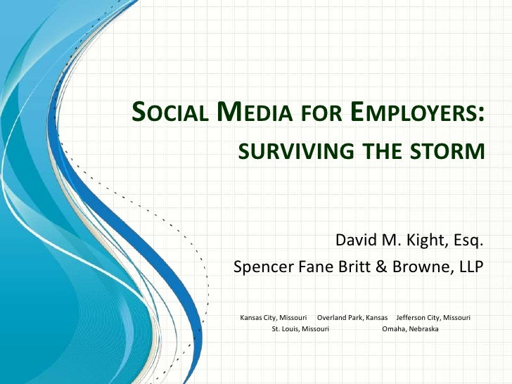 Social Media for Employers:  Tips and Guidance