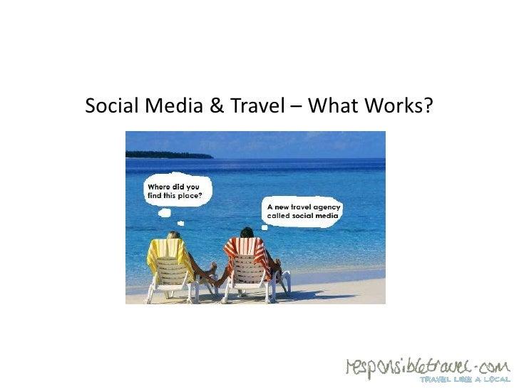 Social media for travel