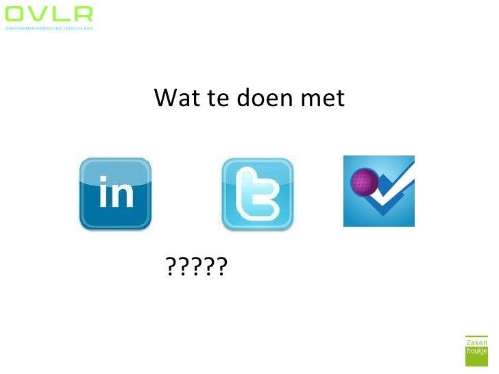 Social media presentatie OVLR