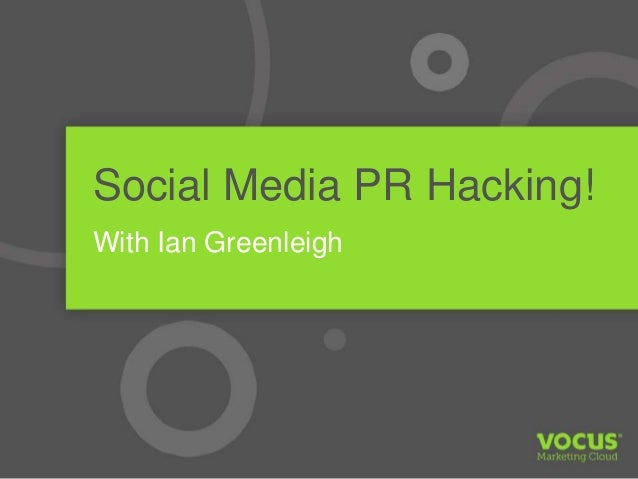 Social Media PR Hacking with Ian Greenleigh