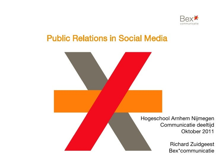 Public Relations in Social Media                        Hogeschool Arnhem Nijmegen                              Communicat...