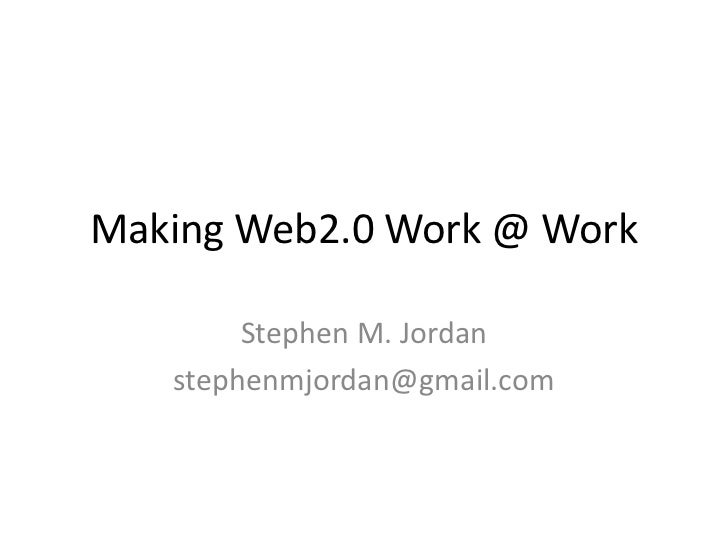 Making web2.0 work at work