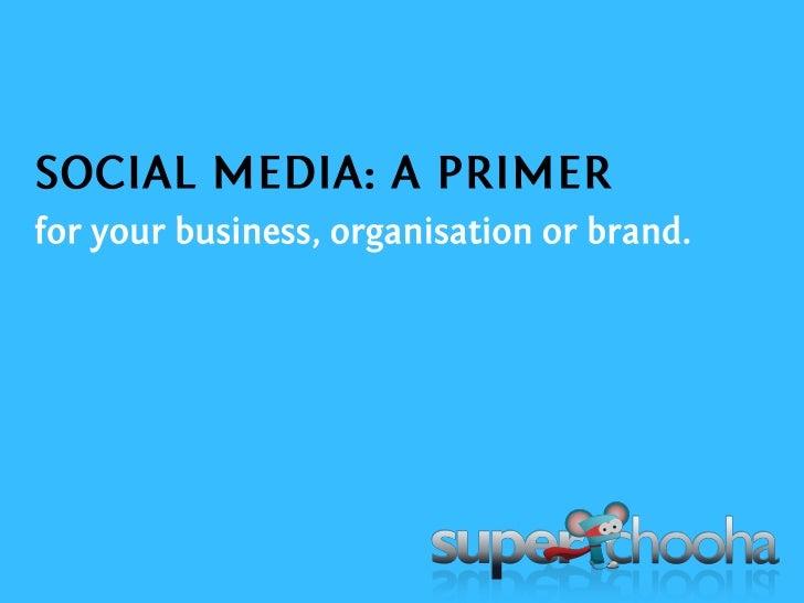 Social Media : A Primer