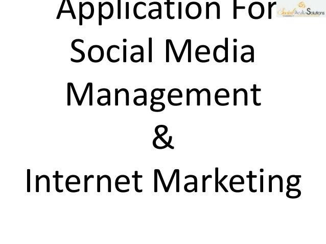 Social media Management and Internet  Marketing
