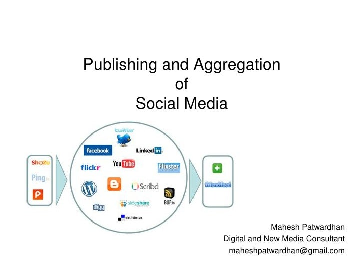 Publishing and Aggregation             of        Social Media                                    Mahesh Patwardhan        ...