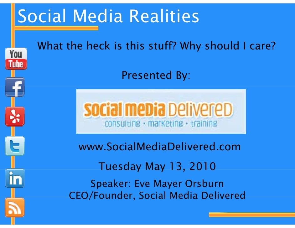 Social media realities