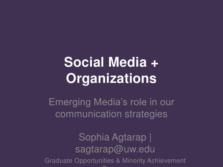Social Media + Grad Student Groups