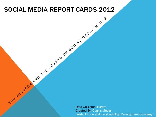 SOCIAL MEDIA REPORT CARDS 2012 Data Collected: Pardot Created By: Cygnis Media (Web, iPhone and Facebook App Development C...