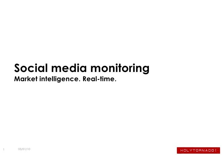 Social Media Monitoring and Reporting Services