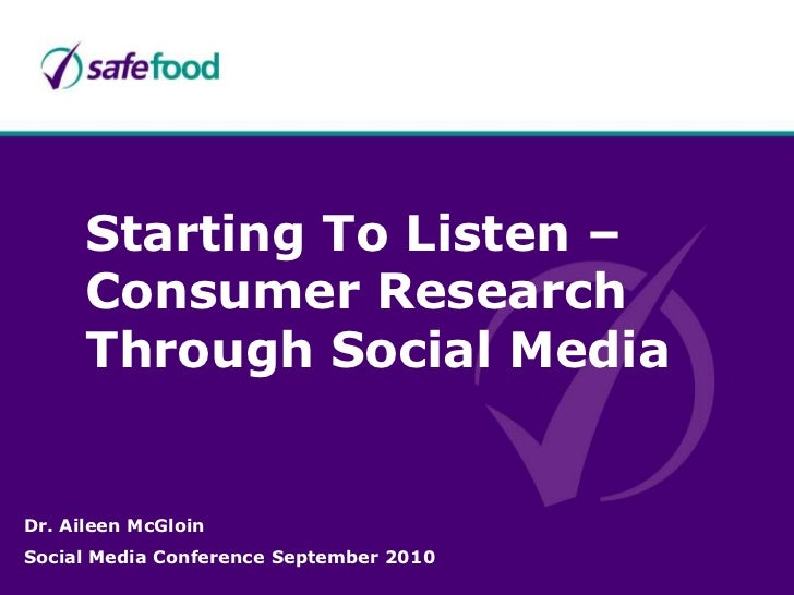 Social media research - aileen mc gloin