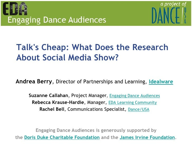 Talk's Cheap: What Does the Research About Social Media Show?