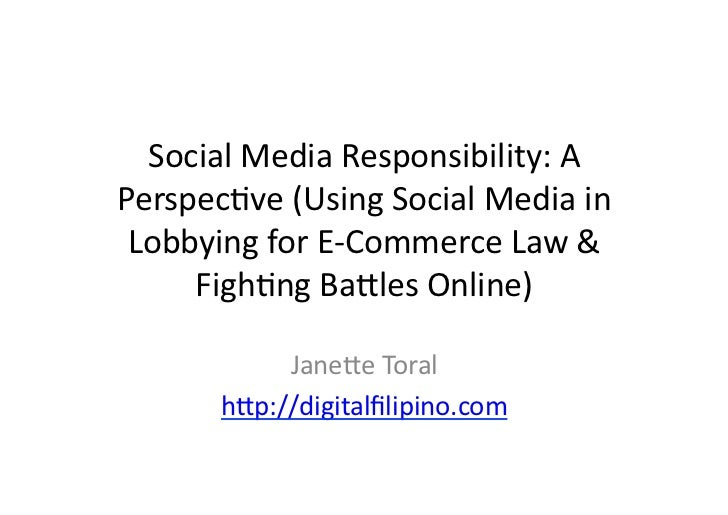 Social Media Responsibility: A Perspective