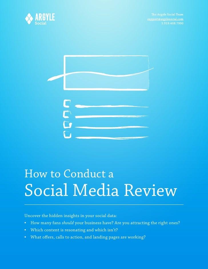 How to do a Social Media Marketing Review