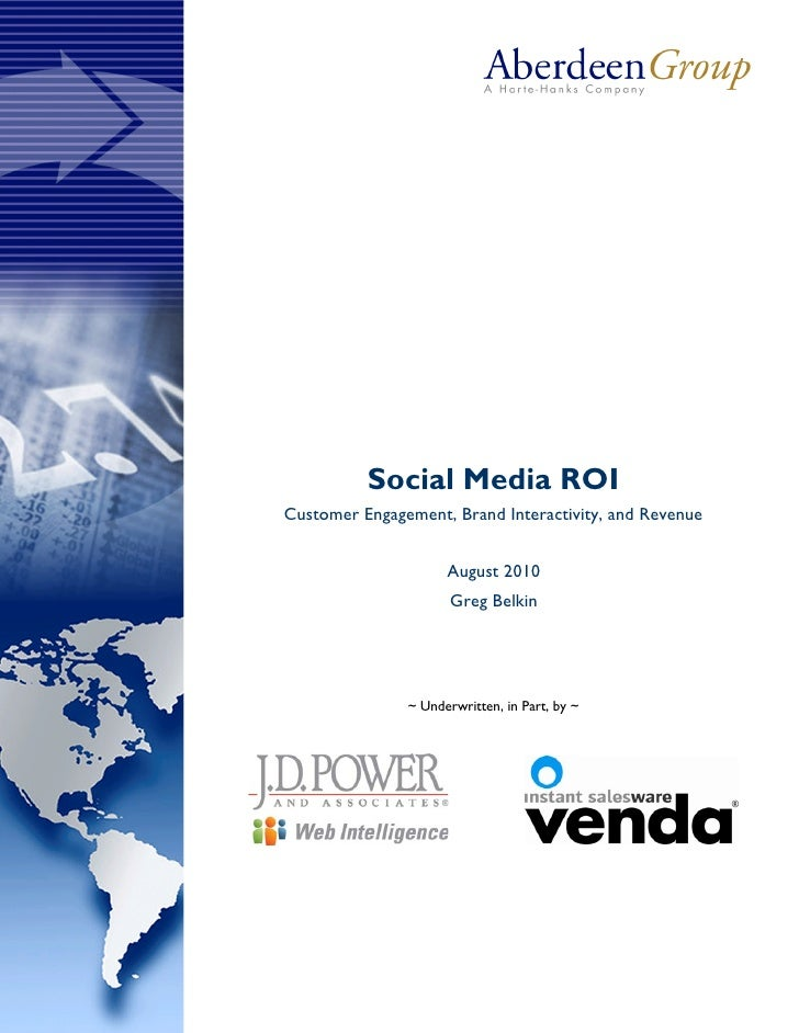 Socialmedia roi