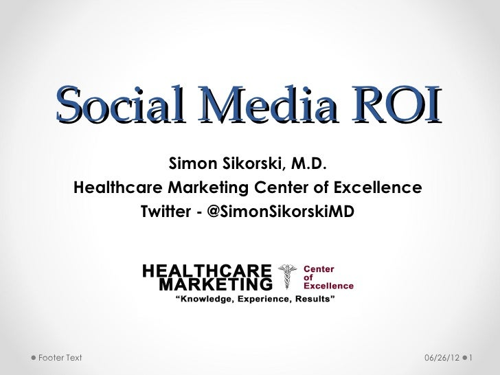 Social Media ROI in Healthcare