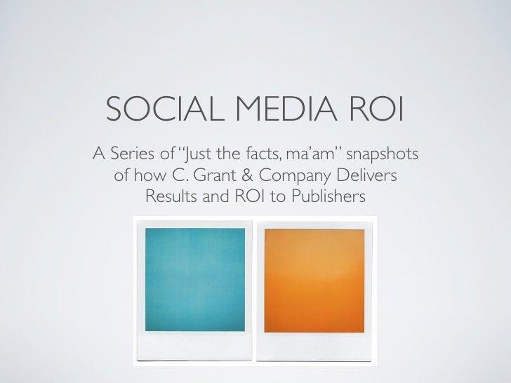 Social Media ROI for Publishers