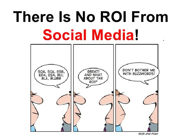 There Is No ROI From  Social Media !