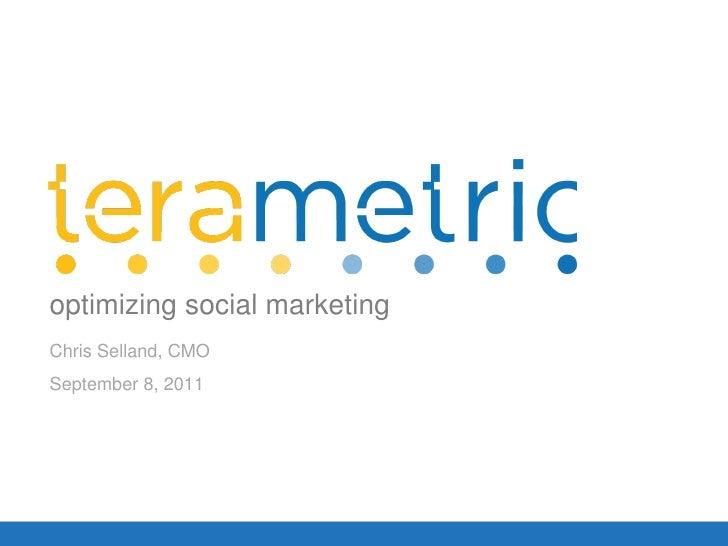 Terametric Social Media ROI Webinar September 8, 2011
