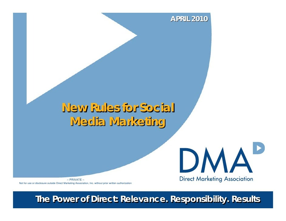 Social Media Rules and Guidelines April 2010