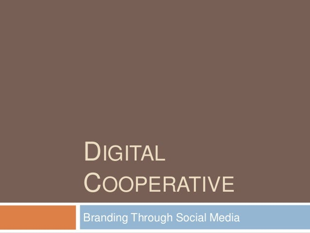 Digital Cooperative Social Media Marketing Plan