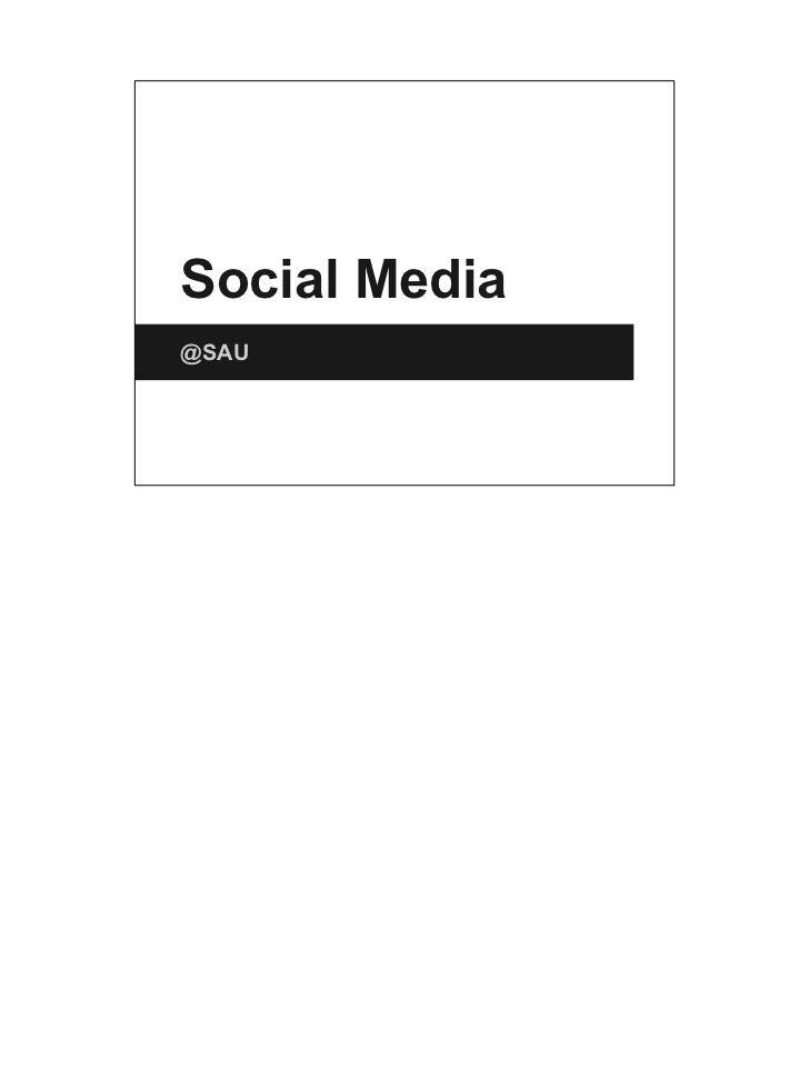 Social media at SAU