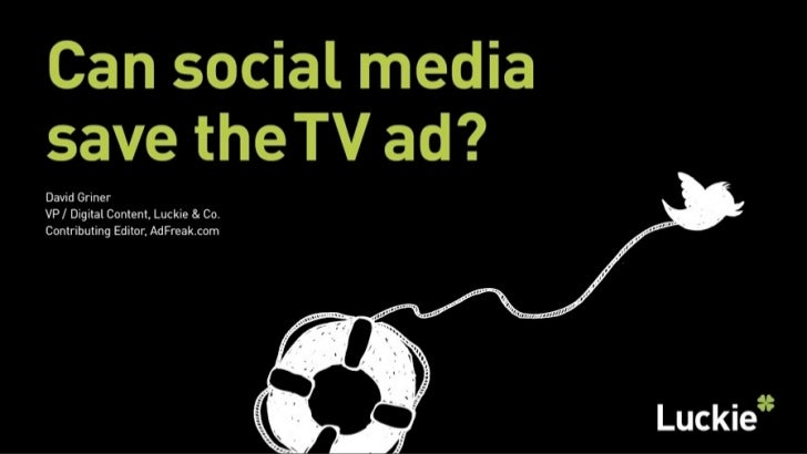 Can social media save the TV ad?