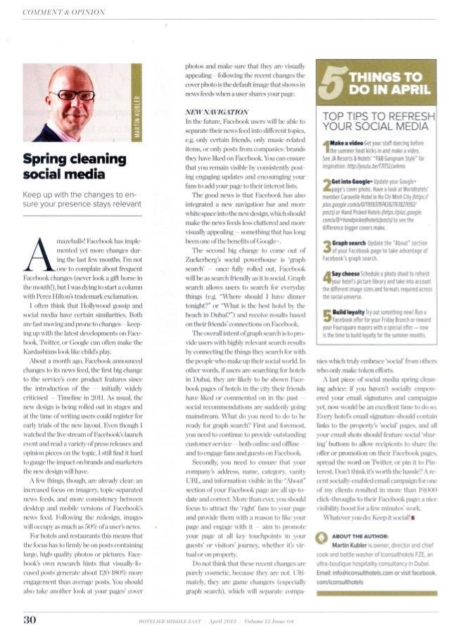 Social Media Savvy April 2013