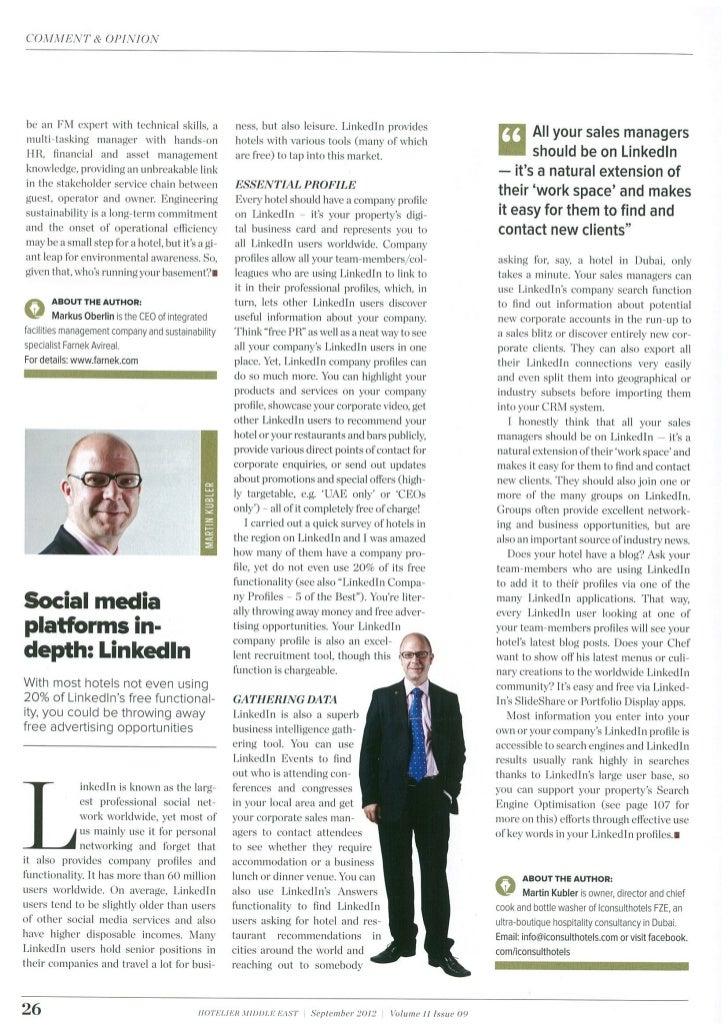 Social Media Savvy - September 2012