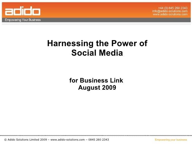 Social Media - How to start