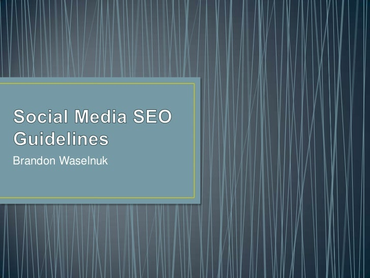 Social media SEO guidelines