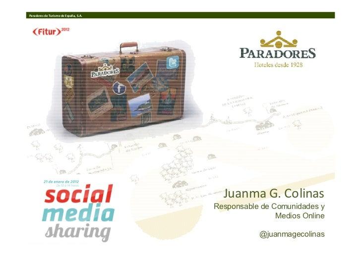 Paradores en el Social Media Sharing de FITUR 2012 (PDF)