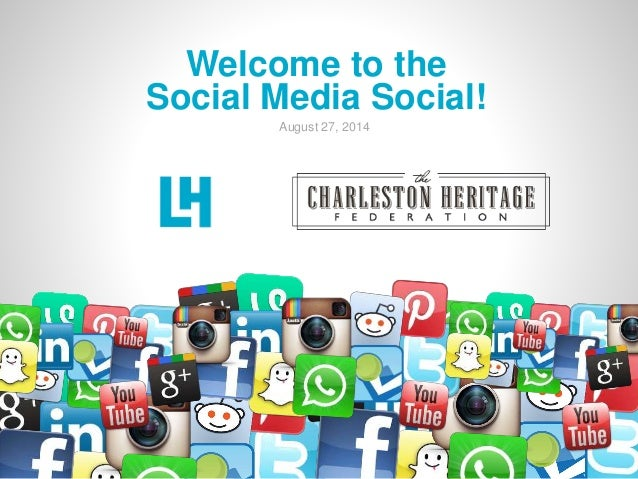 Welcome to the  Social Media Social!  August 27, 2014