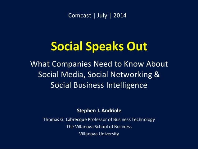 Social  Speaks  Out      What  Companies  Need  to  Know  About     Social  Media,  Social  Ne...