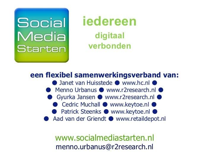 Social media starten   menno urbanus