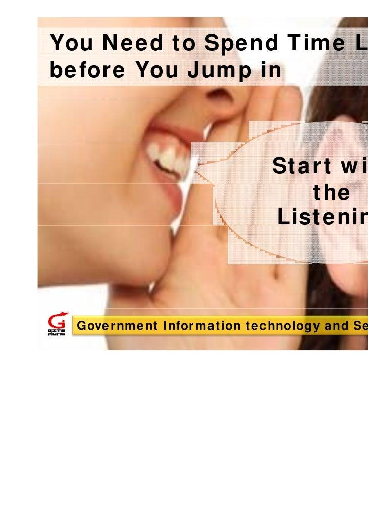 Social Media Start with the Listening