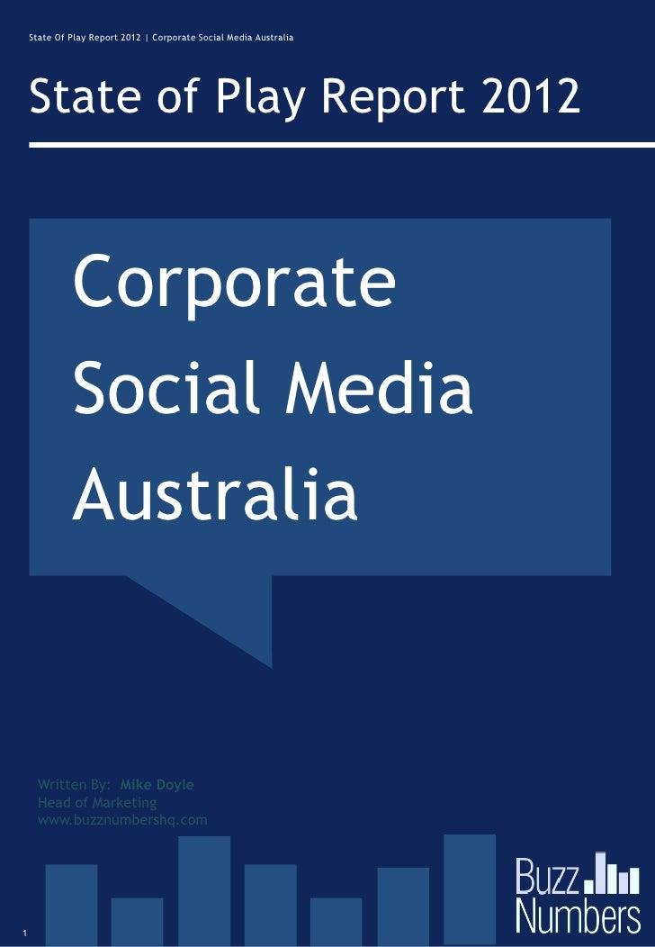 Social Media State of Play Australia 2012