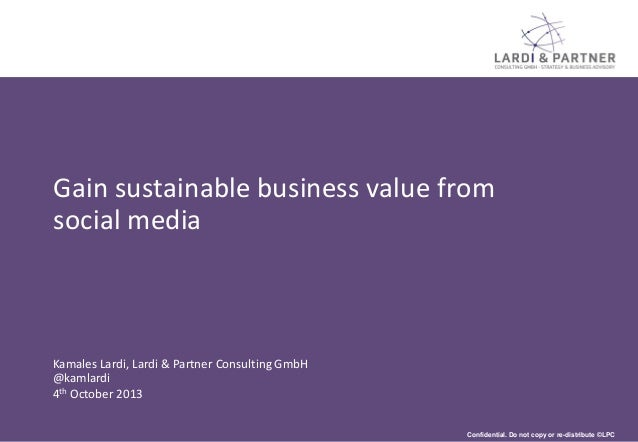 6th European CMO Conference: Gain sustainable business value from social media