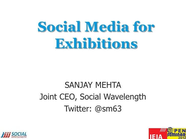 Social media strategies for exhibitions