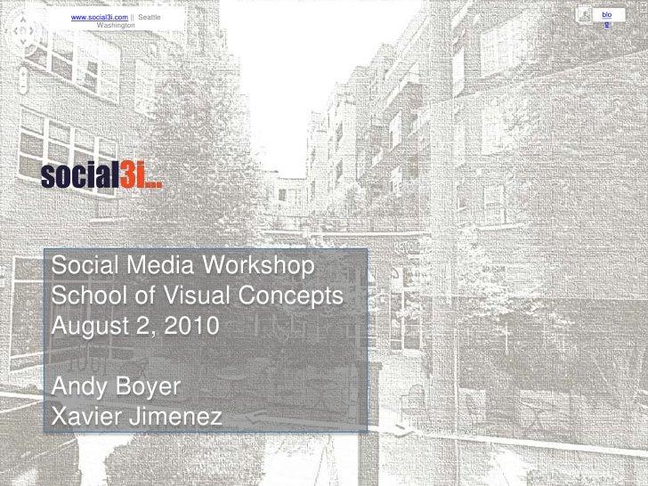 Social Media Strategies - social3i - August 2010